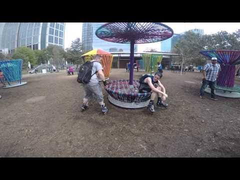 #104 Having fun at Discovery Green Park.
