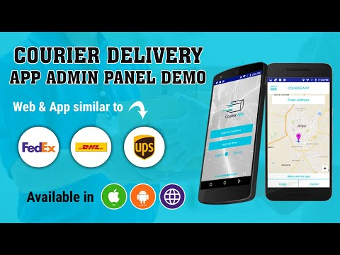 Courier Tracking Script   Courier Delivery App Admin Panel Demo