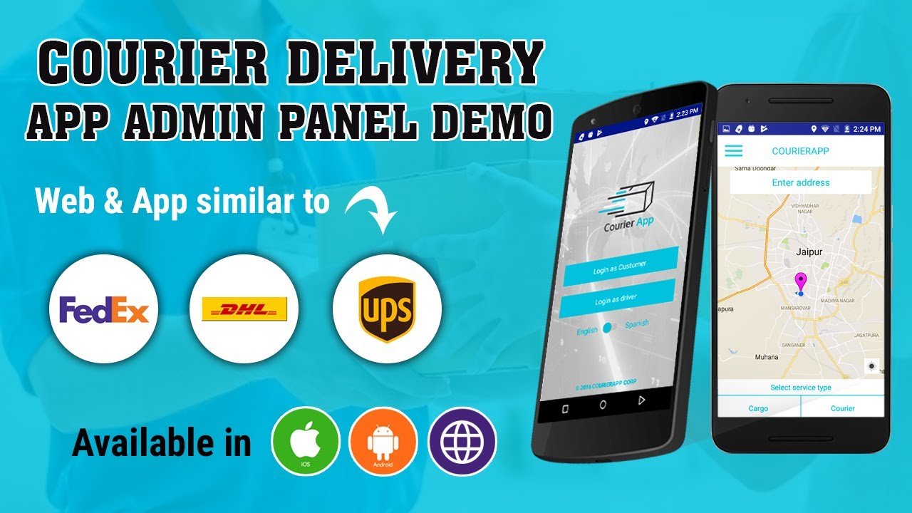 Courier Tracking Script | Courier Delivery App Admin Panel Demo