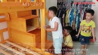 ? Giường tầng cho trẻ con giá rẻ đẹp gỗ tự nhiên ở Tân Bình TPHCM - giuong tang cho tre con re dep