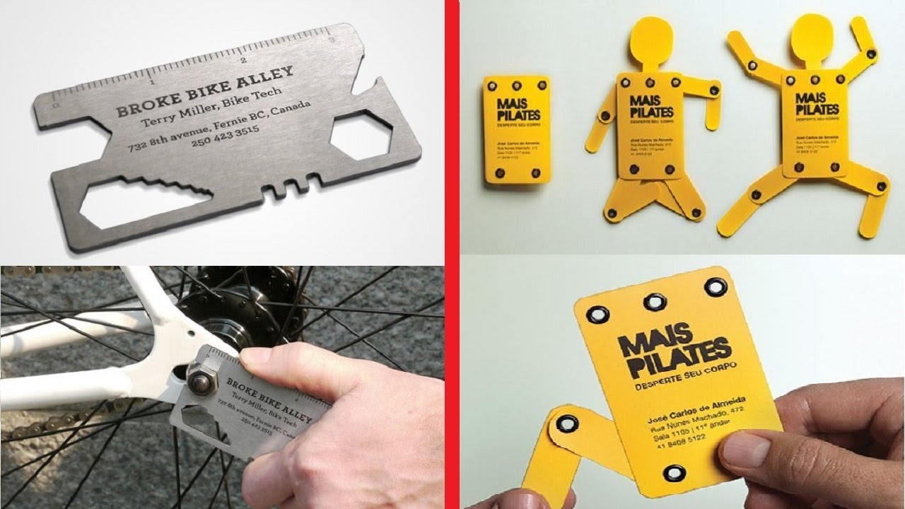 Most Creative Business Card Designs and Ideas ever seen - YouTube