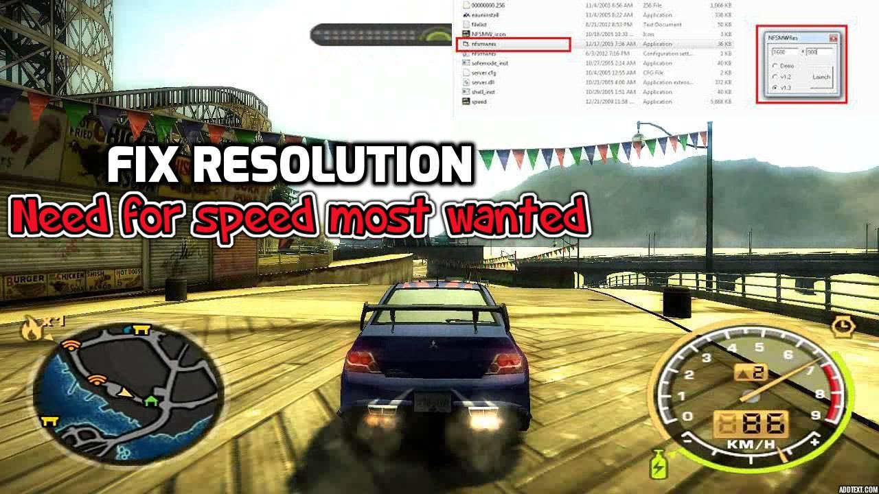 Need For Speed Most Wanted Resolution Fix 2020 Youtube