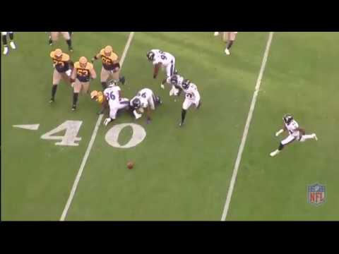 Chuck Clark  zone coverage  breaks on ball and blows up receiver
