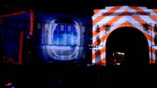 Лазерное, световое шоу на Дворцовой площади. Санкт-Петербург   2015 год.