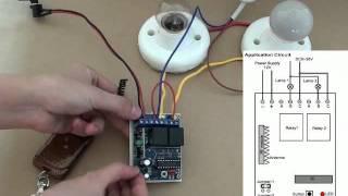 2-CH DC RF Wireless Remote Control Light 315/433MHz