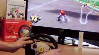 """Mario Kart Wii"" with a true ""Racing Wheel"" (part 2)"