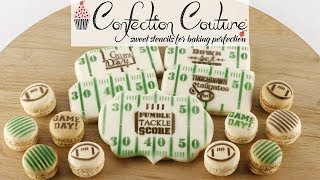 Make a Touchdown with Football Cookie Stencils