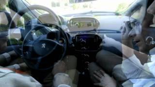 Citean matricula en Navarra el primer coche eléctrico UN PEUGEOT ION DE AUTOMÓVILES TORREGROSA