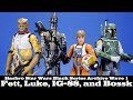 watch he video of Star Wars Black Series Archive Wave 1 Boba Fett, Bossk, Luke, and IG-88 Hasbro Action Figure Review