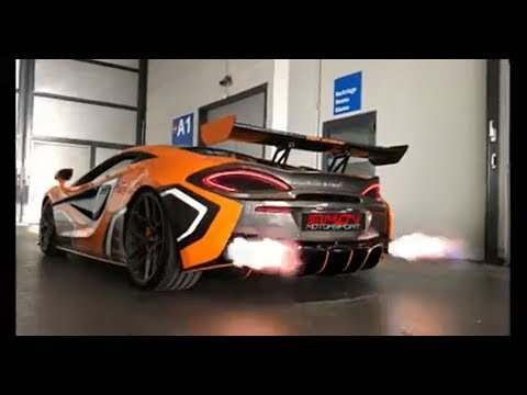 McLaren 570S w/ ARMYTRIX De-Catted Valvetronic Exhaust + Flame ECU tune, shooting crazy FIRE!