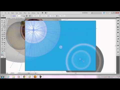 เทคนิคการทำพื้นหลังแบบชิว  Illustrator cs5