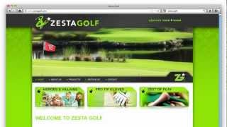 Website design Zesta Golf