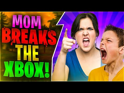 ANGRY MOM BREAKS THE XBOX Fortnite Battle Royale