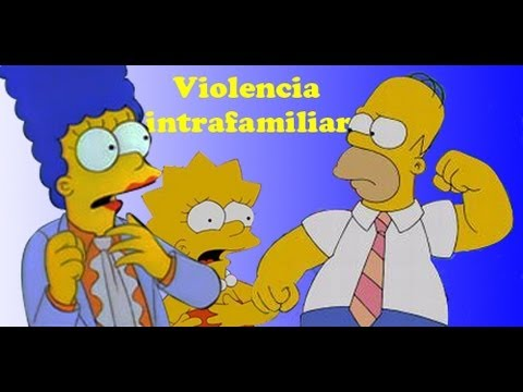 The Simpsons Wrestling Violencia Intrafamiliar Youtube