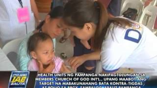 Pampanga LGU, nakipagtulungan sa MCGI sa pag-abot ng target sa anti-polio at anti-measles campaign