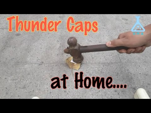 How To Make Thunder Caps At Home (from a matchbox)!!!!!!