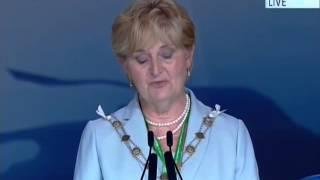 Liz Wheatley, Mayor of Waverly UK at Jalsa Salana UK 2014