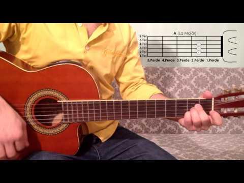 A La Majör Akoru Nasıl Basılır Gitar Dersleri
