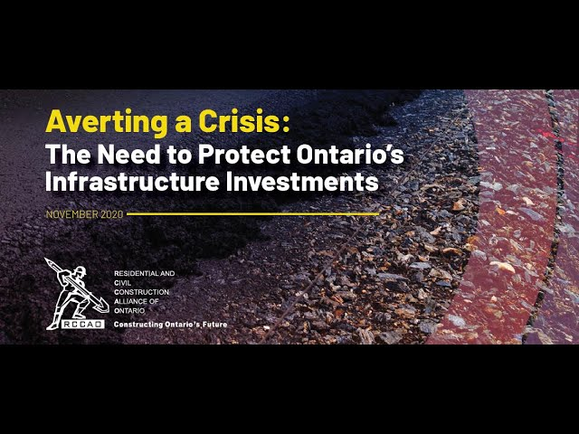 The Need to Protect Ontario's Infrastructure Investments
