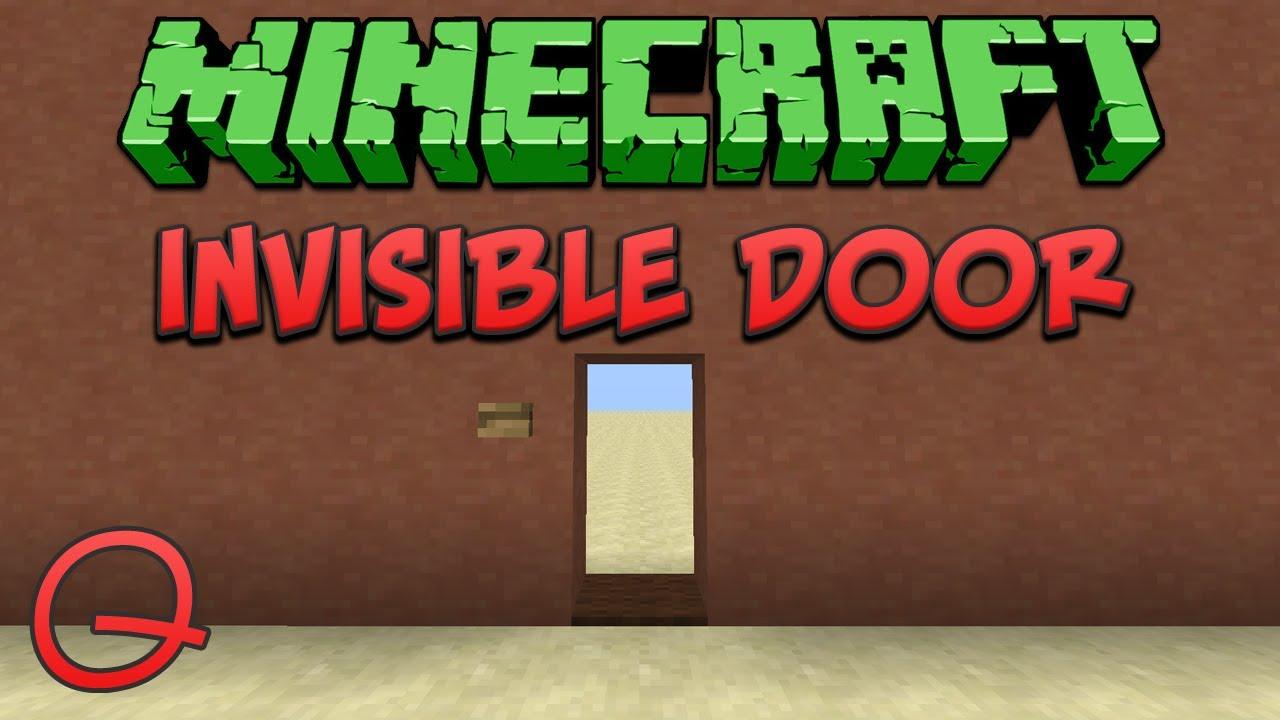 & Minecraft: Invisible Door (Quick) Tutorial - YouTube