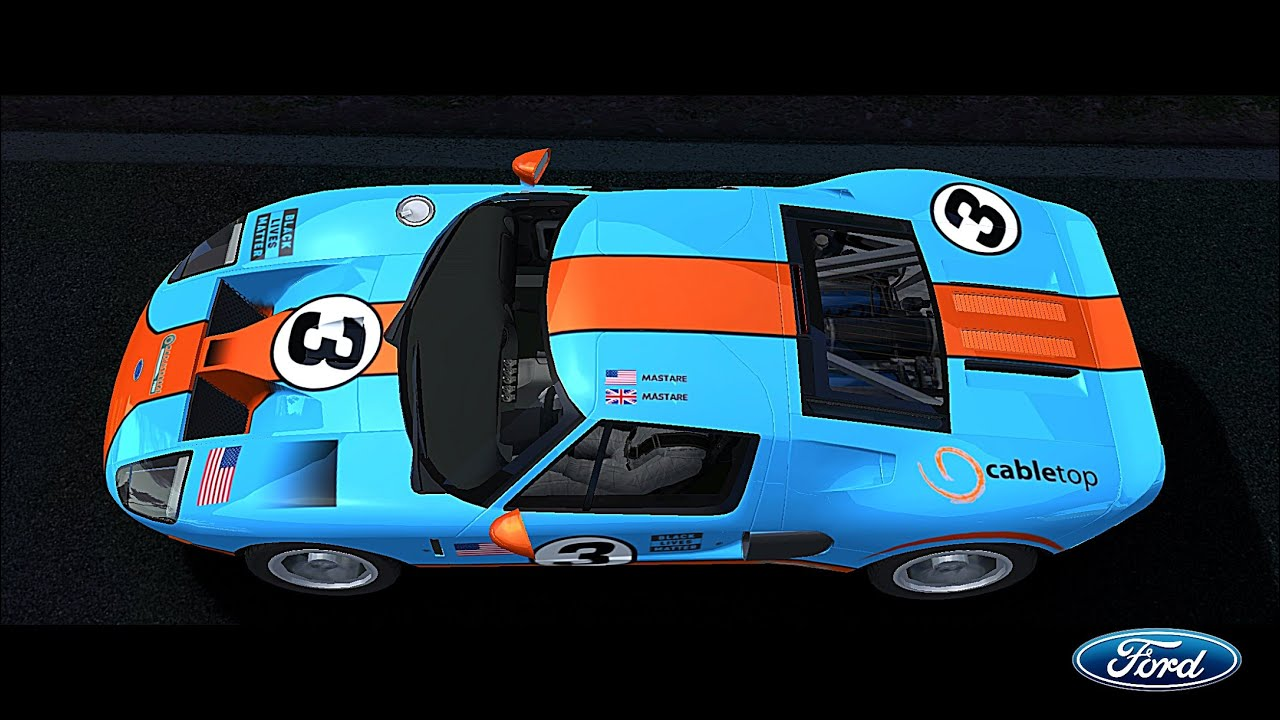 Real Racing 3 Tutorial How To Make Gulf Racing 2005 Ford Gt Livery Youtube