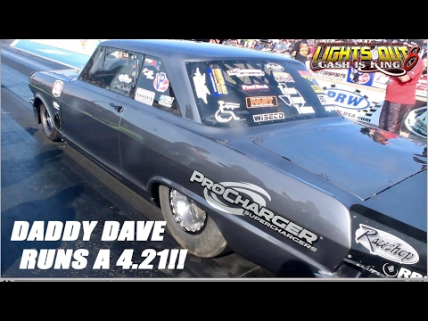 STREET OUTLAWS DADDY DAVE LAYS A 4.21 AT LIGHTS OUT 8!!