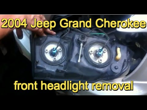 1999 2004 Jeep Grand Cherokee Headlamp Bulb Or Assembly Replacement Youtube
