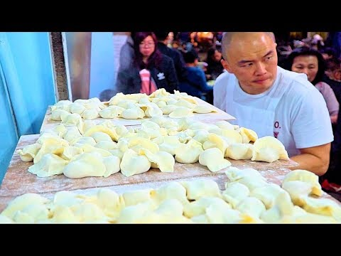 Fastest Dumplings (WORLD RECORD!) STREET FOOD in Taipei's BEST Night Market | Taiwan Street Food