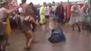 Crazy Rave Worm Dance On Mud
