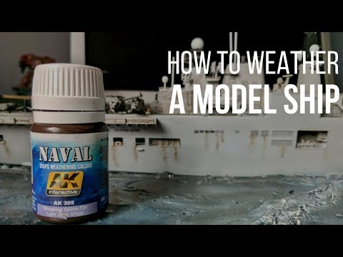 How to weather a model ship