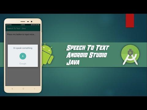 Speech To Text - Android Studio - Java