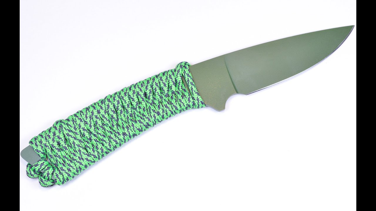 How to wrap a knife handle with paracord boredparacord youtube