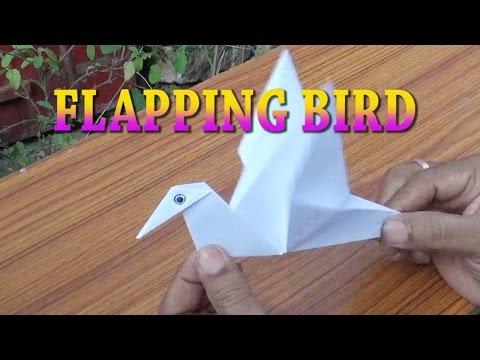 FLAPPING BIRD-PAPER CRAFT-ORIGAMI-EASY STEPS FOR KIDS