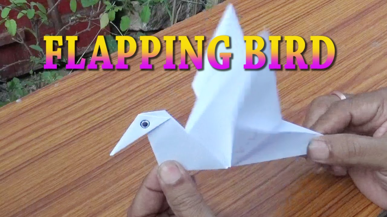 Wonderful Paper Craft Ideas For Kids Videos Part - 2: FLAPPING BIRD-PAPER CRAFT-ORIGAMI-EASY STEPS FOR KIDS - YouTube