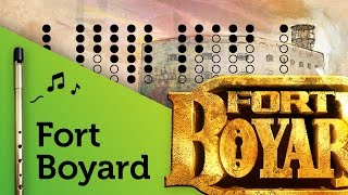 Fort Boyard theme on Tin Whistle D + tabs tutorial