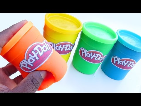 DIY How To Make Play Doh Mighty Toys Tubs Modelling Clay Learn Colors