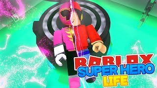 ROBLOX SUPERHERO LIFE 2 - MORPHING INTO THE PINK POWER RANGER!!
