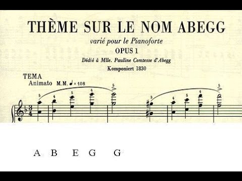 SCHUMANN Abegg Variations op. 1 - Costantino Catena