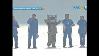 Алибек Альмадиев   на церемонии открытия VI зимней Универсиады