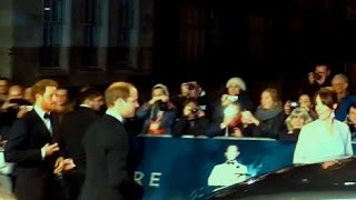 "Kate Middleton, Prince William and Prince Harry arrive to the World Movie Premiere ""Spectre"""