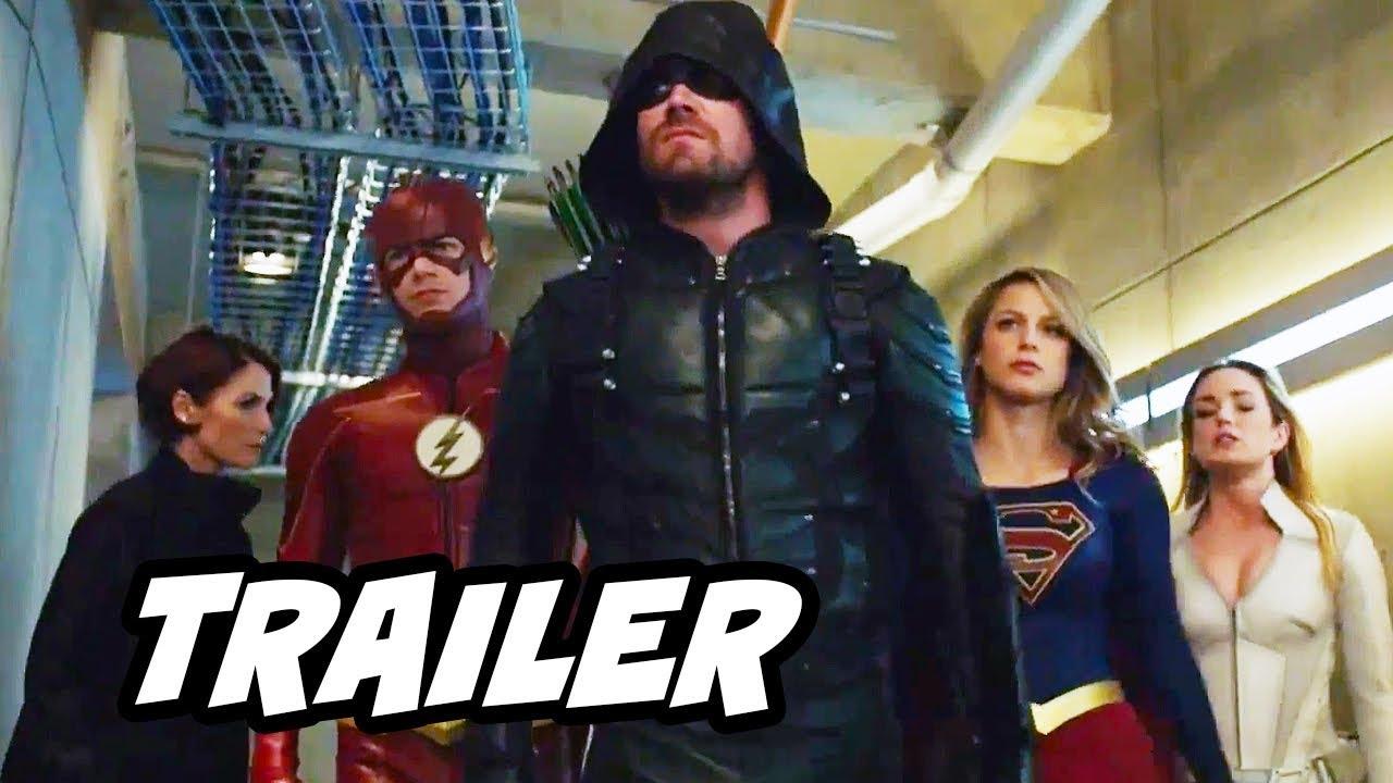 The Flash Season 4 Arrow Supergirl Crossover Teaser Trailer - Crisis On  Earth X