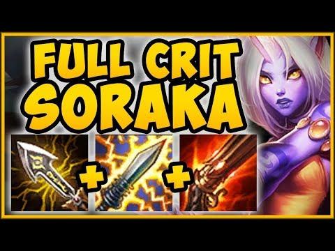 NEW CRIT ITEM CHANGES MAKE SORAKA ADC BUILD 100% BUSTED! SORAKA TOP GAMEPLAY! - League of Legends thumbnail