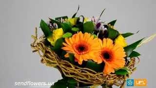 Оригинальный букет Уютное гнездышко. Доставка цветов - SendFlowers.ua(http://www.sendflowers.ua/ - доставка цветов в любую точку мира! Самые оригинальные, красивые, стильные, шикарные букеты..., 2014-04-30T17:54:31.000Z)