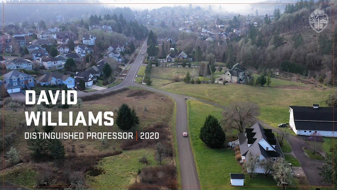 David Williams - 2020 Distinguished Professor