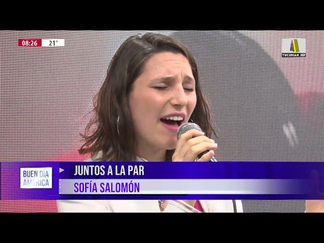 Sofía Salomón lleno de música la mañana de Buen Dìa América