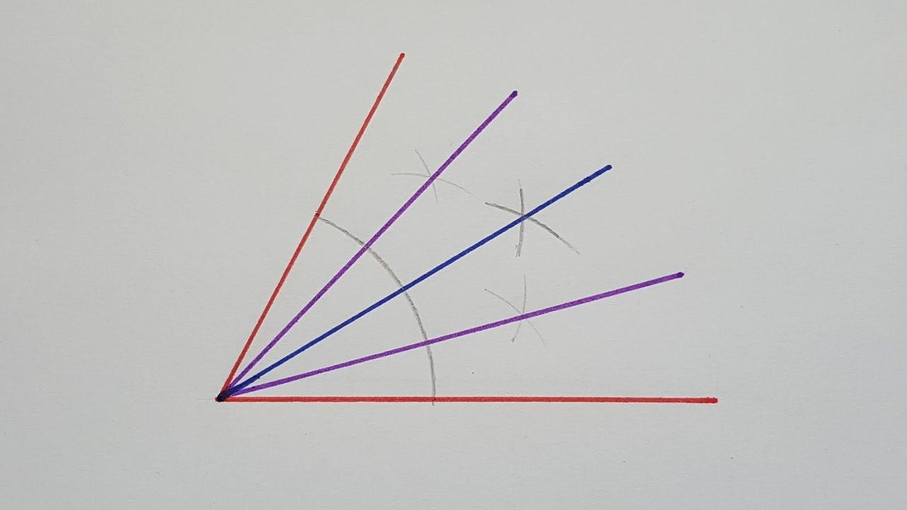 Cómo Dividir Un ángulo En Partes Iguales Youtube