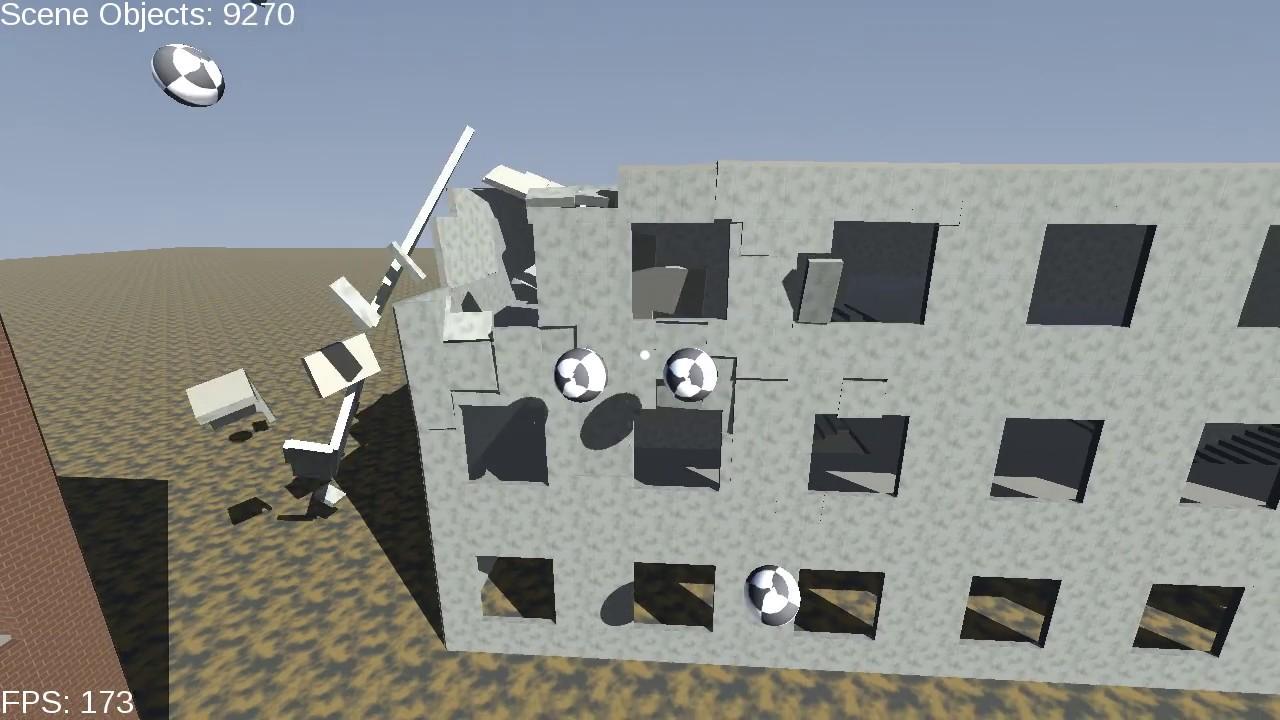 Physics Simulation Demo - NVIDIA (Blast, PhysX) - C++ - OpenGL