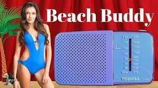 Beach Buddy! Toshiba TX-PR20 AM FM Portable Radio Review