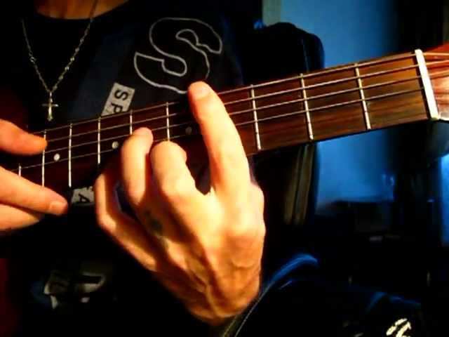 Как играть на гитаре аккорд Fm