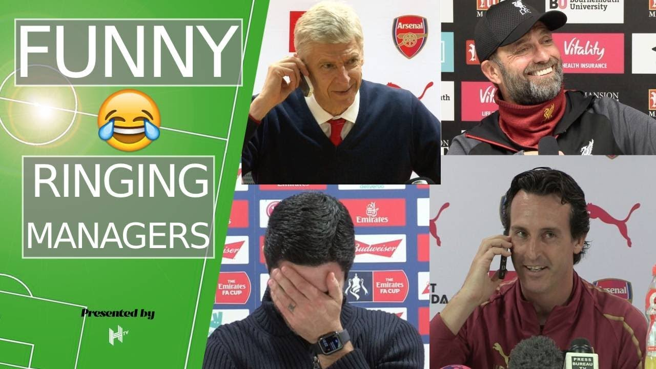 MANAGERS vs PHONES | Hilarious Epic Phone Fails In Manager Press Conferences